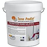 TECNOCEM HIDRO de Tecno Prodist - (20 Kg) - Mortero cemento de capa gruesa para revocos y enlucidos, hidrofugado e impermeable de color blanco.