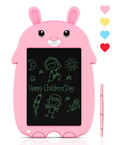 LCD Writing Tablet Doodle Board, iThrough 8.5-inch Drawing Tablet Electronic Doodle Pads Writing Board for Kids & Adults, Mini Handwriting Paper Drawing Tablet Rabbit for School, Home, Office