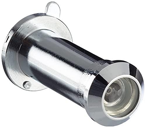 Türspion Durchmesser 12 mm |Messing verchromt | Weitwinkel 170 Grad | inkl. Verdeck