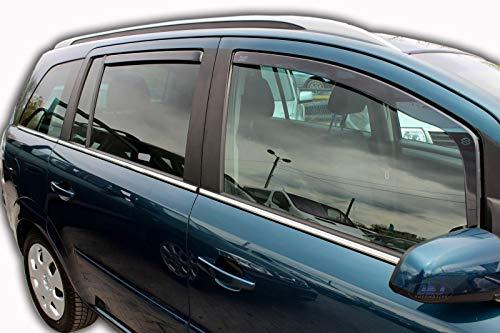 J&J AUTOMOTIVE Windabweiser Regenabweiser für Zafira B 5-türer 2005-2011 4tlg HEKO dunkel