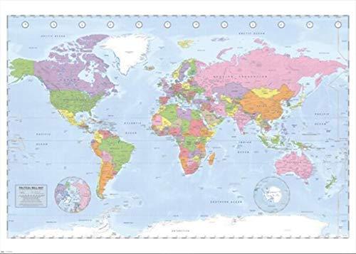 Close Up Póster Mapa Político Mundial Póster XXL
