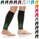 NEWZILL Compression Calf Sleeves (20-30mmHg) for Men & Women - Perfect Option to Our Compression Socks - For Running, Shin Splint, Medical, Travel, Nursing, Cycling (L/XL, Green)