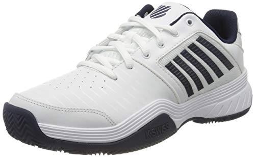 Dunlop Herren Court Express HB Sneaker, White/Navy, 42 EU