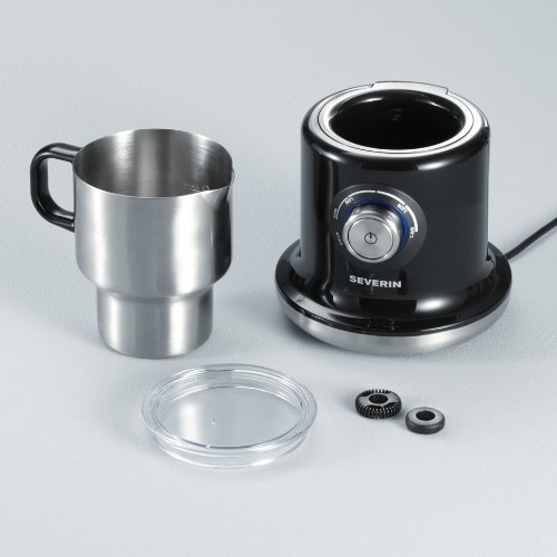 Severin Induction Milk frother with Capacity 700 ml and with 500 W of Power SM 9688, Brushed Stainless Steel-Black