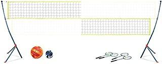 EastPoint Sports Easy Setup Portable Volleyball Badminton Net Set