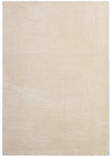 Mia's Tappeto Olivia per Soggiorno, 100% Poliestere, Beige, 120 x 170 cm