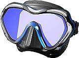 TUSA Paragon S - Maschera subacquea professionale con filtro UV (fishtail blu)...