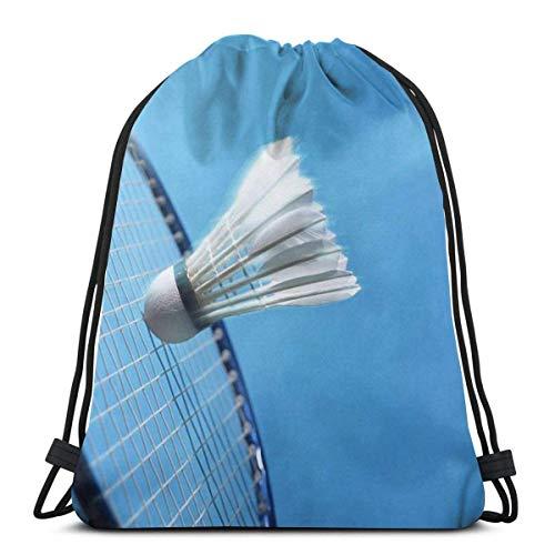 NPNP Klassische Kordelzugtasche, Badminton Trajectory Gym Rucksack Umhängetaschen Sport Aufbewahrungstasche für Männer Frauen