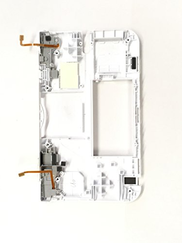 Nintendo 3DS XL Back Panel Replacement Housing Shell With Left And Right Ribbon Cable and Trigger Shoulder Button White Color