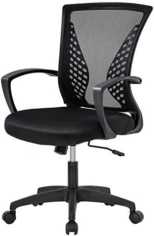 Home Office Chair Mid Back PC Swivel Lumbar Support Adjustable Desk Task Computer Ergonomic product image