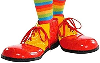 AMSCAN Red and Yellow Clown Shoes Deluxe Halloween Costume Accessories One Size,15 H x 9 3/4 W