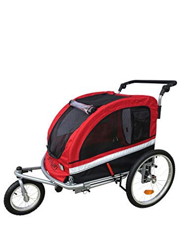 Booyah Strollers Large Pet Stroller and Trailer - Red
