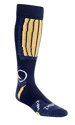 Thibet Ski- Strümpfe mit Schafwolle Ski Socks, Farben alle:gelb, Größe:36-39