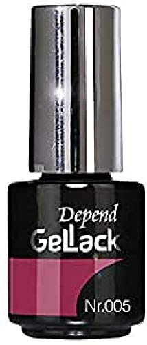 Depend GelLack - Esmalte permanente, tono Raspberry Red