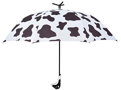 Esschert Design Regenschirm Kuh, 120 x 120 x 95 cm, aus Metall/Synthetik, mit Kunststoffgriff