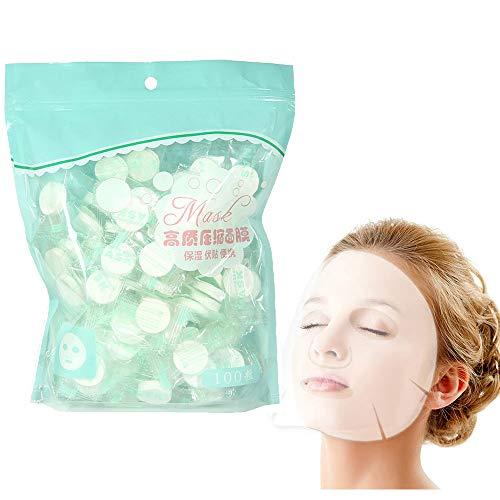 Lezed peau soin du visage bricolage papier facial Masque Masque Blanc masque facial en coton Feuille de masque facial en papier jetable Compress Masque Visage diy Soins de la peau cosmétique 100Pcs