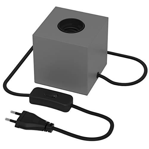 Calex E27 Table Lamp Matte Switch Concrete Grey