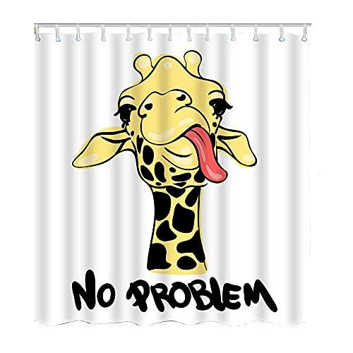 Duschvorhang mit Giraffen-Motiv, wasserdicht, Polyester