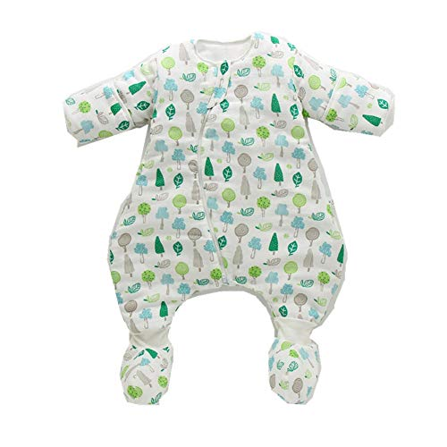 Sacos de dormir Saco De Dormir Para Bebé De Algodón Engrosado Recién Nacido Sección Delgada Edredón Anti Patada Multifuncional Saco De Dormir Transpirable Para Bebé 70Cm Verde