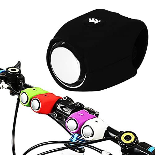Klaxon - Esterilla eléctrica para bicicleta, patinete con carcasa impermeable de silicona ecológica con avisadores sonoros, 6 modos de sonido, 120 DB, para accesorios de bicicleta para niños y adultos