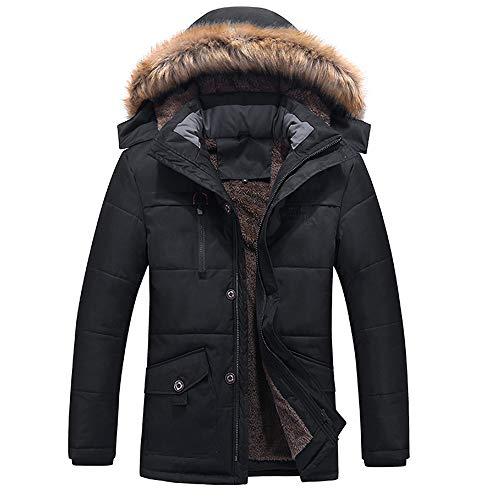 Jaysis Hommes Manteau Hiver Grande Taille à Capuche Chaud Long Vest Automne Sport Blouson Doudoune Homme Sweats Epaissir Zipper Poches Sweashirt Outwear Tops Coat Jacket Parka Homme