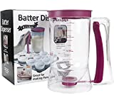 Pancake Cupcake Batter Dispenser - for Cupcakes Waffles, Muffin Mix, Crepes, Cake or Any Baked Goods… (Purple)
