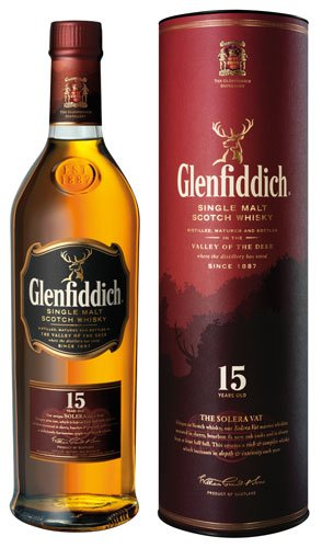Glenfiddich Solera Reserve Scotch Whisky 15 Years, 40% Vol.Alk, Schottland - 0.7L