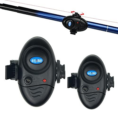 FISHNU Volume Adjustable Fishing Alarms,Waterproof Nylon Case Gift Packing Fish Bite Alarm Indicators(Pack of 2)