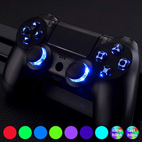 eXtremeRate PS4 Knöpfe Tasten Buttons D-Pad Steuerkreuz Thumbsticks DTF LED Kit für Playstation 4 PS4 Controller(Symbols Leuchttaste)