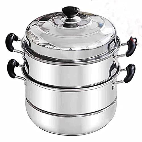 Vapor hogar acero inoxidable doble capa tres o cuatro capas vaporizador vapor bollos al vapor cocina de inducción grande estufa de gas universal