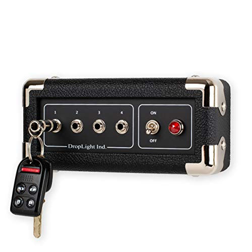 Handcrafted Guitar Amp Wall Mounted Key Holder with 4 Keychains by Droplight Ind. (Hammer)