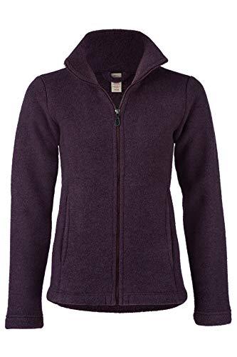 Engel Damen Fleece Jacke, 100% Schurwolle, Natur, Gr. 34/36-46/48, 2 Farben (42/44, Lila Melange)