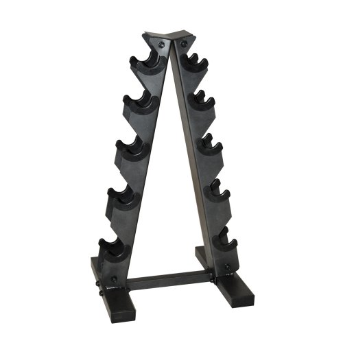 Our #7 Pick is the CAP Barbell A-Frame Dumbbell Rack