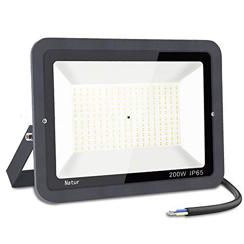 200W LED Foco Exterior,bapro 3000k Alto Brillo Proyector Led,Impermeable IP65 Floodlight Led...