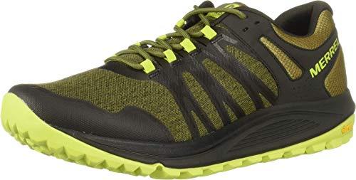 Merrell Nova, Zapatillas de Running para Asfalto Hombre, Verde (Olive/Beluga), 42 EU