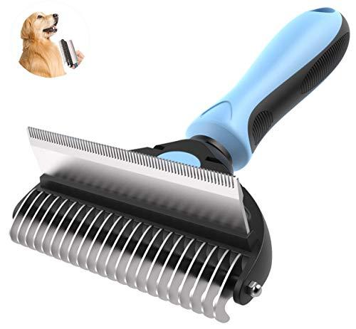 YUDOXN Pets Cepillo Perros y Gatos, Peine Perros y Gatos,Cepillos para Mascotas.Cepillo de Limpieza Removedor de Pelaje para Perro y Gato. Quitar el Exceso y Muerto de Pelo Cómodo y Seguro (2 en 1)