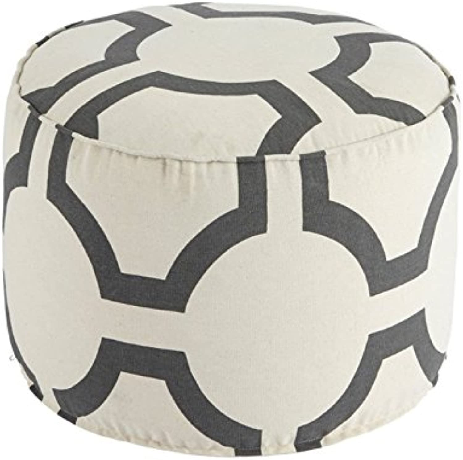 Bowery Hill Cylinder Pouf in Charcoal