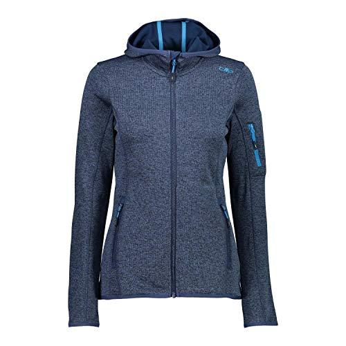 CMP Woman Jacket Knitted + Mesh 30H5866 Größe 46 Blue Light Blue 03MG