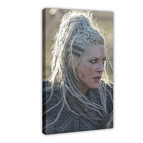 Lagertha Vikings 12 - Póster de lienzo para pared (60 x 90 cm)