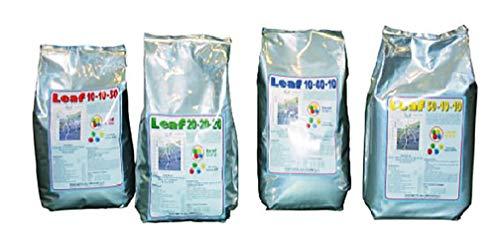 VIALCA LEAFCONCIME 20-20-20 kg.2 Concime NPK Fertilizzante CONCIME idrosolubile e fogliare (azoto-fosforo-potassio) per Tutti i Tipi di pianta ORTO E Giardino