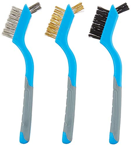 Silverline 617623 Mini Wire Brush - Set of 3