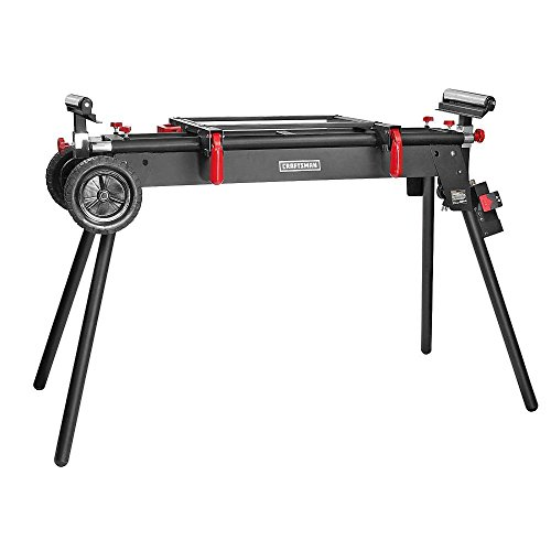Craftsman 9-16490 Universal Deluxe Miter Saw Stand with Adjustable Steel Rollers and Wheels