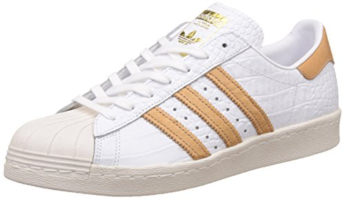 Adidas Mens Superstar 80s Footwear White Leather Trainers 4 UK