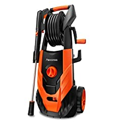 【POWER PRESSURE WASHER】Packed with a powerful 1800 Watt motor, our electric power washer for house and car delivers up to 2300 PSI of water pressure at 1.85 GPM of water flow. This electric power pressure washer will remove tar and grease from concre...