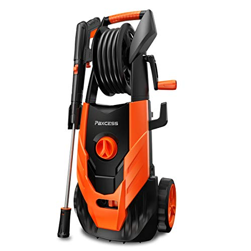 PAXCESS Power Washer, 2300 PSI 1.85 GPM Electric Power Pressure Washer with Spray Gun, Adjustable Nozzle, 26ft High Pressure Hose, Hose Reel (Power Wash Machine, Portable Pressure Cleaner, Car Washer)