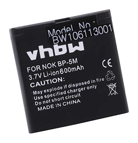vhbw Akku passend für HAGENUK C900 Handy Telefon Smartphone ersetzt BP-5M (600mAh, 3.7V, Li-Ion)
