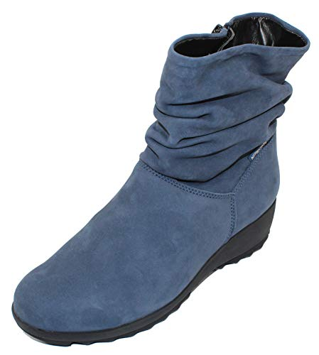 Mephisto Women's Agatha Ankle Boots Jeans Blue 6.5 M US