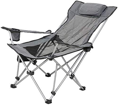 Silla camping plegable sillas plegables camping Silla plegable de camping con apoyabrazos reclinable portátil for Garden Beach Pesca con la almohadilla de la siesta Inicio almuerzo cama silla rotura