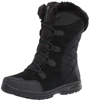 Columbia womens Ice Maiden II Snow Boot Black Columbia Grey 9 US