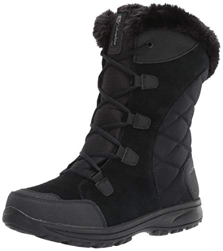 Columbia womens Ice Maiden Ii Snow Boot, Black, Columbia Grey, 8 US